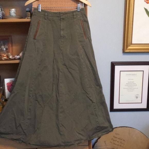 Vintage banana republic skirt with leather details